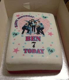 Chocolate One Direction Birthday Cake