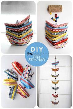 free paper boat tutorial - So CUTE pliage bateau en papier paper boat 10 Diy Origami, Origami Paper, Origami Garland, Origami Mobile, Origami Folding, Diy And Crafts, Arts And Crafts, Paper Crafts, Papier Diy