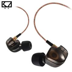 KZ ATES ATE ATR HD9 Copper Driver HiFi Sport Headphones In Ear Earphone For Running With Microphone  Price: 8.94 USD