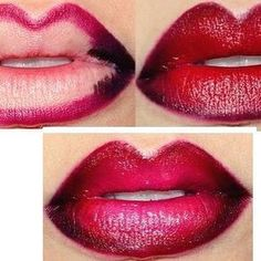 Create Ombre lips with our smudge proof liners and beautiful lip glosses