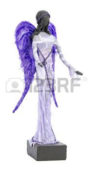 Paverpol Escultura de un �ngel con alas violetas y Brazos Outstretched photo
