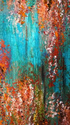 summer beach sea ocean & turquoise and rust by MesmerizeGarden, £28.00