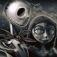 Jack and Sally day of the dead