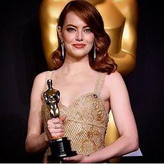 Emma Stone #Oscars 2017#Winner of#Best actress#La la land#Awards 2017