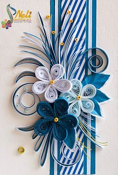 Neli is a talented quilling artist from Bulgaria. Her unique quilling cards bring joy to people around the world. Neli Quilling, Paper Quilling Cards, Paper Quilling Flowers, Quilling Work, Paper Quilling Patterns, Quilled Paper Art, Quilling Paper Craft, Paper Cards, Quilled Roses