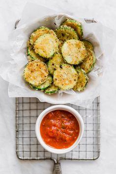 parmesan zucchini I howsweeteats.com