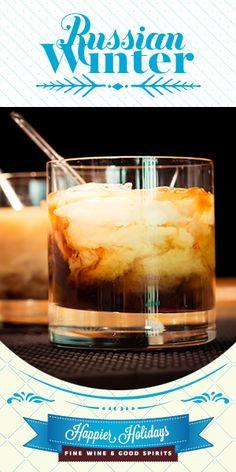 Russian Winter: 1 oz Patrón XO Café Dark Cocoa, 1 oz Skyy Vodka, 1 oz The Irishman Irish Cream. Pour all ingredients into a rocks glass filled with ice; stir gently.