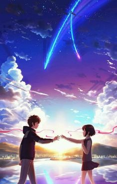 Good animation, good story, good characters, good Ending, good Song Am I the only one that's waiting for Kimi No Na Wa part 2????? This is not my artwork, but this wallpaper is perfect for Kimi no na wa's fans