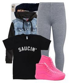 """""""saucin' fr now ✨"""" by trinsowavy ❤ liked on Polyvore featuring H&M, John Lewis and Vans"""
