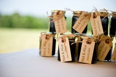 Favors for guests.