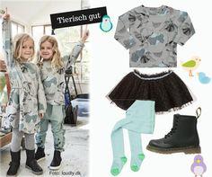 Kindermode Idee Outfit für Mädchen - cooler Style - rockig - Tiermotive - Trend Herbst 2016