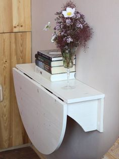 Wall mounted desk Wooden wall mounted drop leaf by GoodMoodWoods