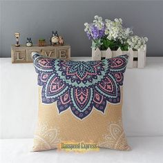 Fashion Pillow Case Cotton linen Cushion Cover Square Home Decor Throw Simple