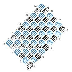 Corner to Corner (C2C) Crochet Chart Pattern created using the HookinCrochet Crochet Symbols Font Software