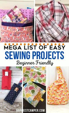 Easy Sew Projects for everyone. I love all of these simple sewing projects. All of them have great step by step sewing tutorials with pictures and videos for each sewing project. These easy sewing projects are perfect for sewing beginners! There are clothing sewing projects, home sewing projects, and kitchen sewing projects. Mega List of Easy Sewing Projects that are Beginner Friendly! Sewing for Beginners is simple and fun. I love all these sewing projects. Craft Projects For Kids, Easy Sewing Projects, Sewing Projects For Beginners, Craft Tutorials, Sewing Hacks, Sewing Tutorials, Sewing Crafts, Sewing Tips, Diy Home Interior