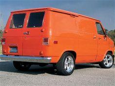 Let's see some van love! - The 1947 - Present Chevrolet & GMC Truck Message Board Network Customised Vans, Custom Vans, Chevrolet Van, Orange Vans, Gmc Vans, Old School Vans, Day Van, Small Trucks, Cool Vans