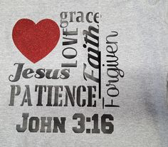 Heart Jesus John 3:16 Christian Raglan Shirt