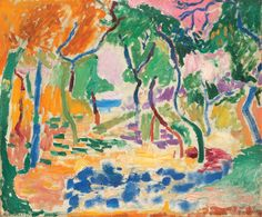 Henri Matisse: Landscape near Collioure. Study for 'The Joy of Life' - Statens…