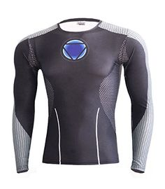 Purchase 2 and Get Another 1 Free IdeaBox Mens Compression Shirt Super Hero Long Sleeve Short Sleeve Workout Fitness Shirt ** To view further for this item, visit the image link. (Note:Amazon affiliate link)