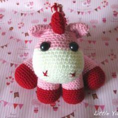 Pink Baby Unicorn amigurumi crochet pattern