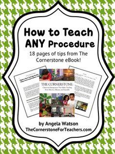 FREE: How to Teach ANY Procedure or Routine! - Angela Watson - TeachersPayTeachers.com