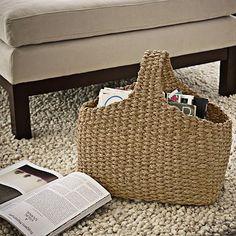 Braided Magazine Bag #WestElm