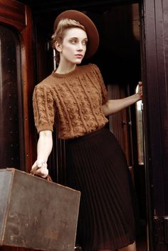 Love the sweater and hat! (Vintage Fashion Shoot - Nene Valley Railway) Source by to style outfits body types Fashion Shoot, Look Fashion, Retro Fashion, Fashion Vintage, 1940s Inspired Fashion, 1940s Fashion Women, Paris Fashion, Fashion Fashion, Trendy Fashion