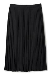 <p>The Malin Pleated Skirt has a folded waistband with a hidden zip closure at back. It is woven in a satin-like fabric with small all-over pleats and laser cut edges at hem.</p><p>- Size Small measures 74 cm in waist circumference and 76 cm in length.</p>