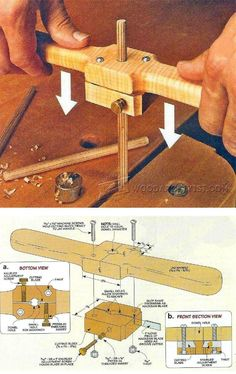 Grooving Jig for Dowels - Joinery Tips, Jigs and Techniques | WoodArchivist.com