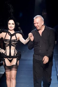 Dita Von Teese for Gaultier Couture fall 2010, corset by Mr. Pearl