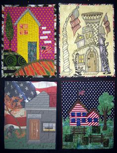 """Twisted Sister: """"Welcome Home"""" Patriotic House Quilt Project"""