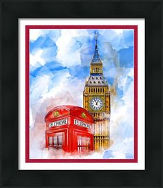 Big Ben Framed Print featuring London Dreaming by Mark E Tisdale