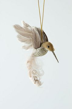 Glitter Drop Hummingbird Ornament at Anthropologie Little Christmas, White Christmas, Christmas Time, Country Christmas, Merry Christmas, Vintage Christmas Ornaments, Christmas Decorations, Holiday Decorating, The Right Stuff