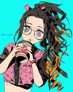 """helloclonion on Twitter: """"Nezuko with a ponytail… """""""