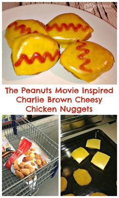 Gearing up for The Peanuts Movie with Tyson® Chicken Nuggets at Sam's Club Plus Peanuts inspired Charlie Brown Cheesy Chicken Nuggets recipe!