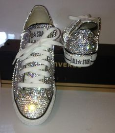 Swarovski Blinged Converse....I may need to make these for my birthday