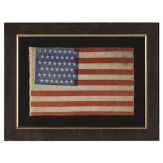 Jeff Bridgman Antiques and American Flags - 45 STAR AMERICAN PARADE FLAG WITH INTERESTING FEATURES, 1896-1907, UTAH STATEHOOD, SPANISH-AMERI...