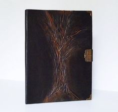 Folder Art Journal Black Leather Portfolio Tree of Life Gift for Men, Women Leather Folder, Leather Photo Albums, Presents For Women, Leather Portfolio, Music Sheets, Leather Gifts, A4 Size, Small Shops, Life Design