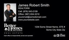Better Homes And Gardens Business Cards - BHG-BC-034 - With Photo, Compact,  Small Size Photo, Black