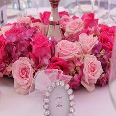 Rosas en distintos tonos rosado.