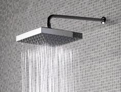 Square shower head.