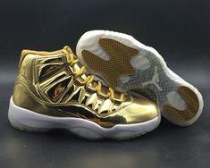 9386c6231729 Air Jordan 11 Metallic Gold White Kawhi Leonard Basketball Shoe For Sale  Big Boys Youth Jeunesse Shoes