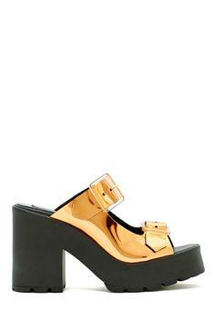 Miista Rachel Platform Sandal - Bronze