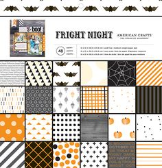 American Crafts - Halloween Collection - 12 x 12 Paper Pad - Fright Night at Scrapbook.com
