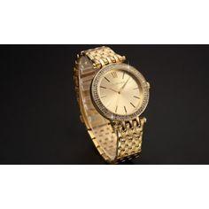 Cette Belle Montre Acier de la marque Taylor Cole avec son magnifique bracelet metal,habillé d'une couronne ronde orné de strass rehausse n'importe quel look !