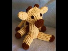 How to Loom Knit a Giraffe Pattern - YouTube