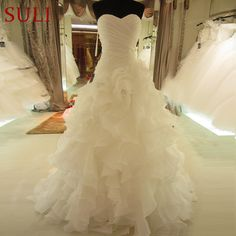 Cheap vintage wedding dress, Buy Quality plus wedding dress directly from China wedding dress Suppliers: SL-7070 Hot Sale Real Picture Organza Bridal Gown Sweetheart Ruffles Vintage Wedding Dress Plus Size