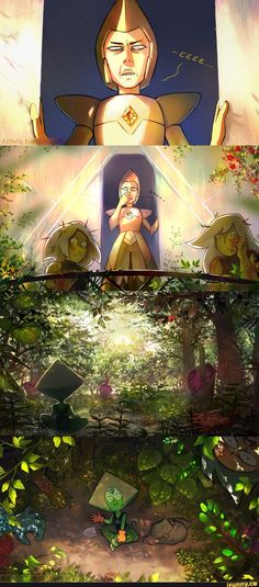Peridot the garden grower! Hire her for only the price to call yellow diamond a clod! She will grow your garden with no hesitations! ( She needs lapis though. Steven Universe Funny, Greg Universe, Universe Art, Steven Universe Peridot, Steven Universe Theories, Gravity Falls, Steven Univese, Adventure Time, Anime