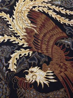 Phoenix details in hand-drawn Batik Tulungagung style by Batik Yunar Tulungagung. Private collection of Arief Laksono.