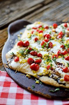 Sweet Corn Caprese Pizza